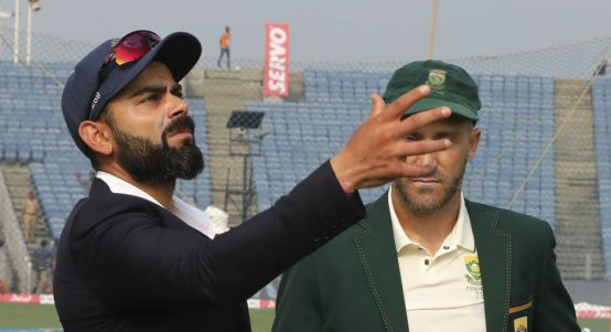 Virat Kohli Faf du Plessis second Test India v South Africa PA