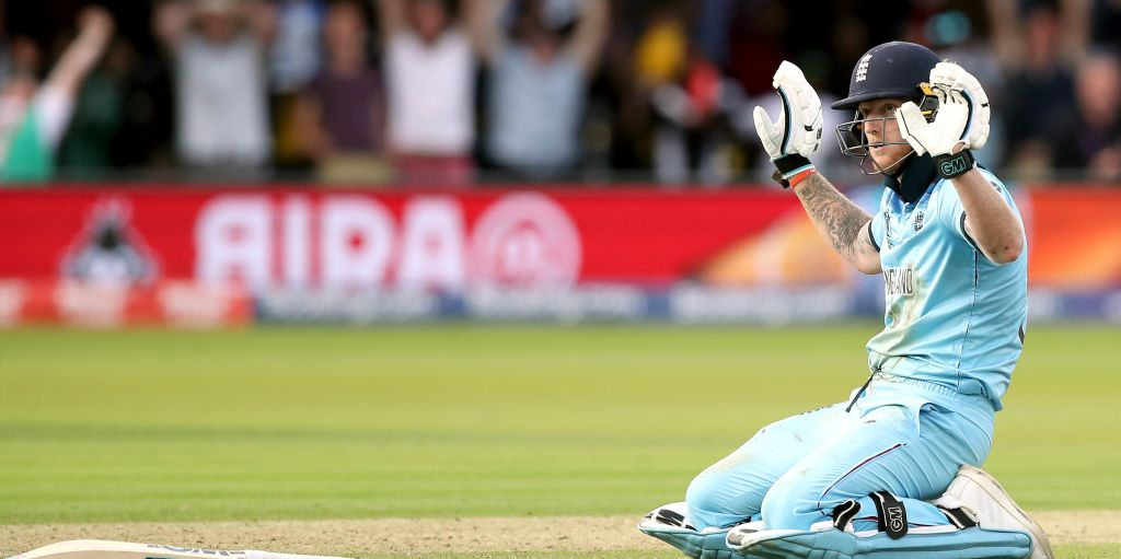Ben Stokes hands up deflection World Cup final England PA
