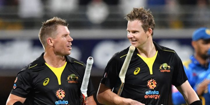 David Warner Steve Smith Australia Sri Lanka T20 PA