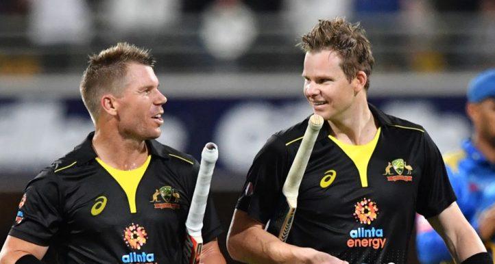David Warner Steve Smith Australia Sri Lanka T20 PA