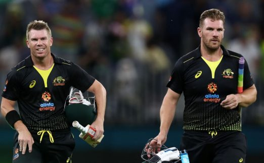 David Warner Aaron Finch Australia Pakistan T20 PA