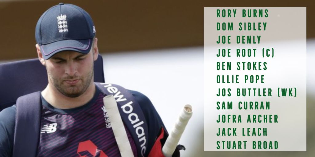 Dom Sibley England XI first Test New Zealand