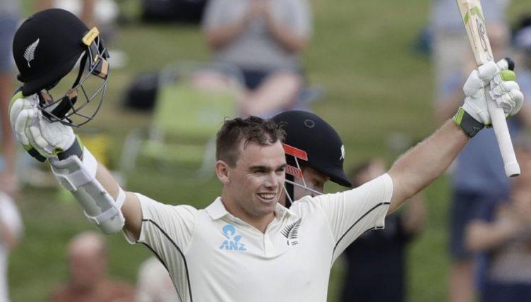 Tom Latham 100 New Zealand England PA