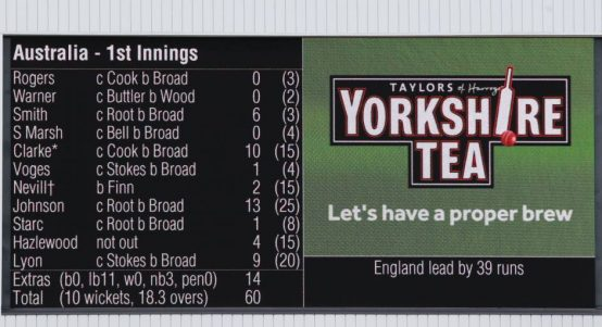 Australia 60 all out Trent Bridge batting collapses PA