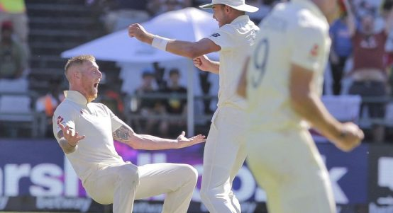 Ben Stokes celebrate England South Africa PA