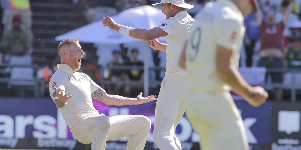 Ben Stokes celebrate England South Africa PA