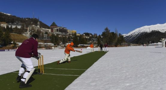 St Moritz cricket on ice