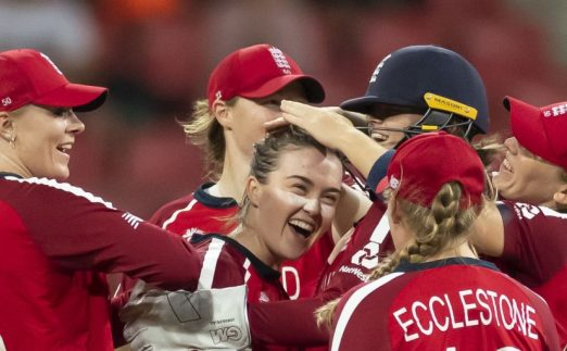 England celebrate T20 World Cup qualification