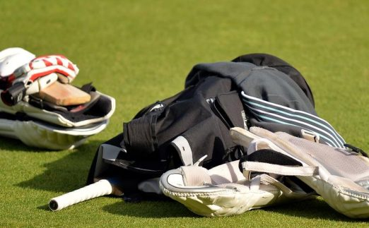 Cricket equipment pads gloves