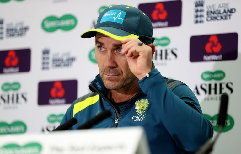 Justin Langer took over as coach