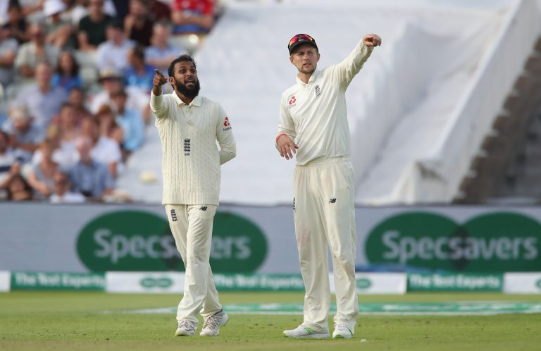 Rashid, left, credited Joe Root with not