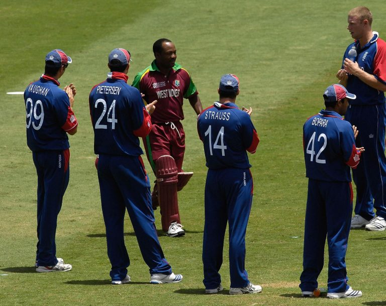England gave Lara a guard of honour after his final international match