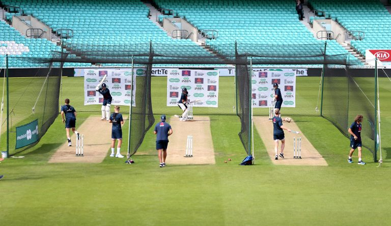 Players must collect their own ball if they bowl in an empty net (Steven Paston/PA)