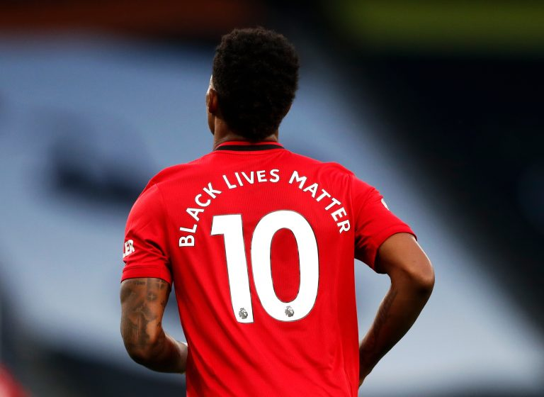 The Premier League has supported the Black Lives Matter movement since its resumption last weekend (Matt Childs/NMC Pool)