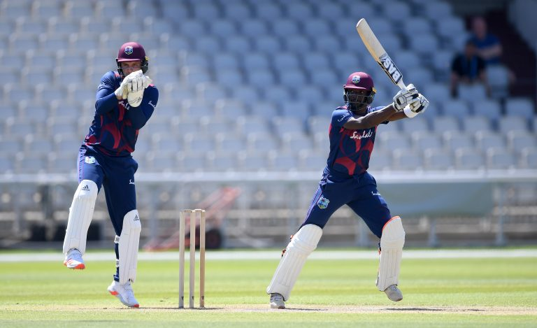 Shamarh Brooks made 66 not out