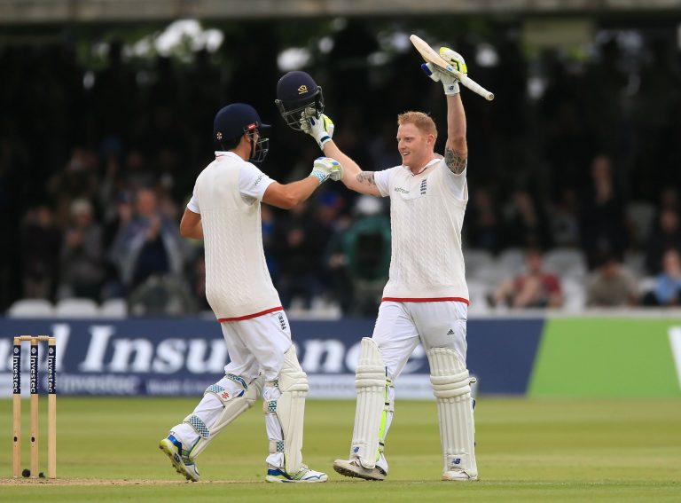 Ben Stokes, right, smashed an 85-ball ton at Lord's in 2015