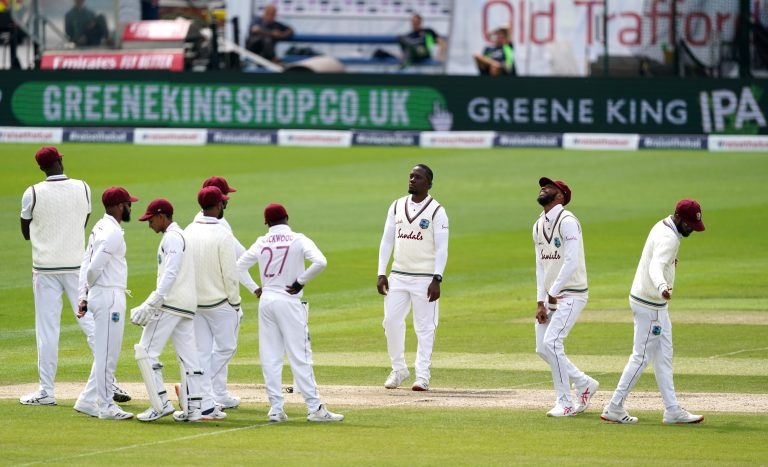 West Indies had a tough day in the field