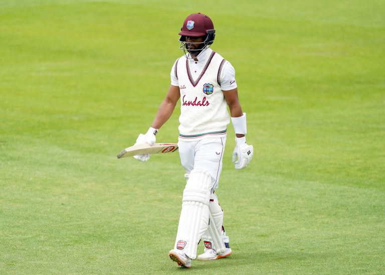 Shai Hope has failed to reach 30 in his most recent 10 Test innings (Jon Super/NMC Pool/PA)