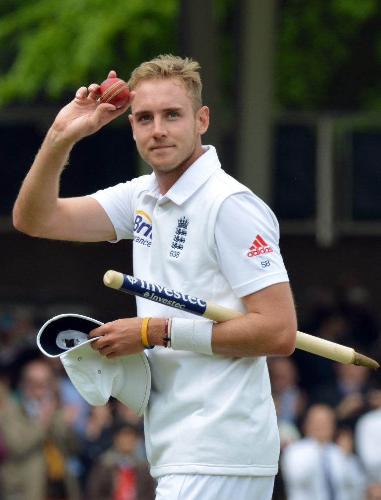Against New Zealand at Lord's in 2013, Broad took career best figures of seven for 44