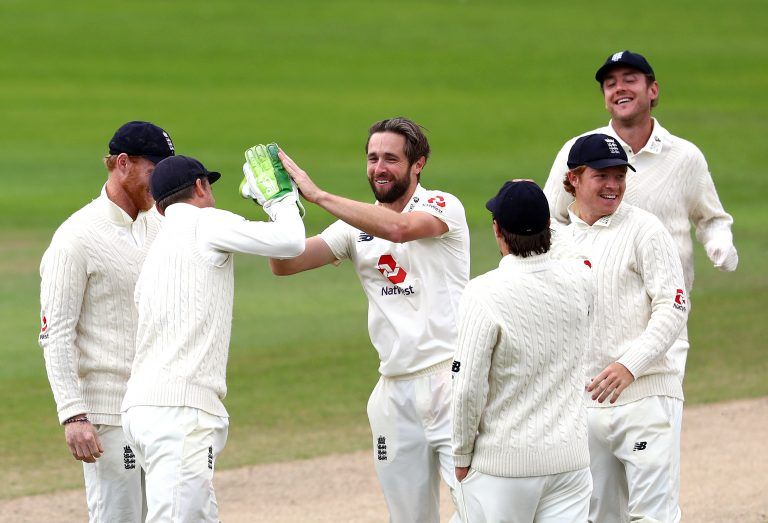 England's Chris Woakes claimed a five-for against the West Indies