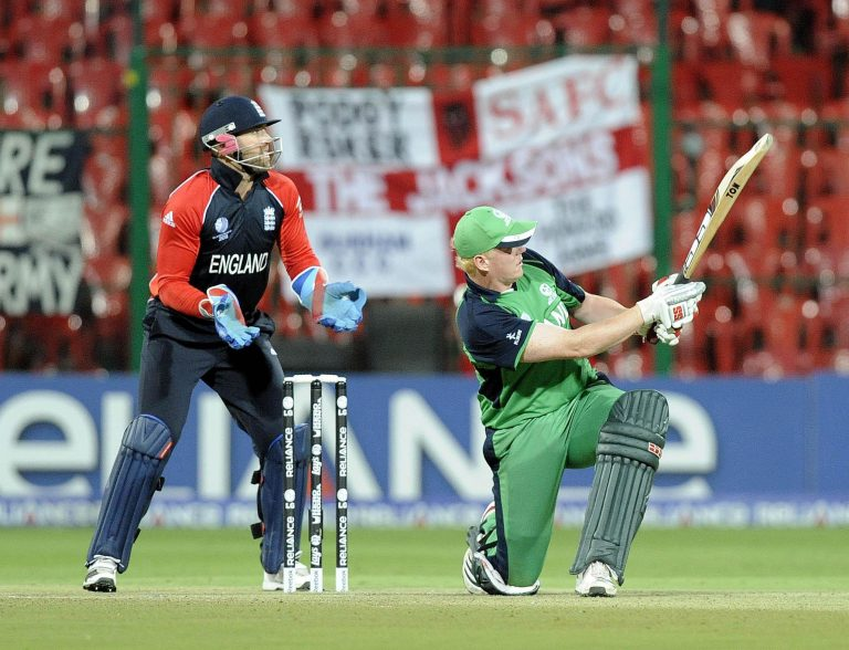 Kevin O'Brien ushered Ireland to a famous victory over England nine years ago (Rebecca Naden/PA)