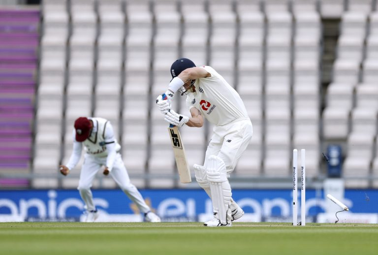 Joe Denly, centre, was dropped by England ahead of the second Test (Adrian Dennis/NMC Pool/PA)