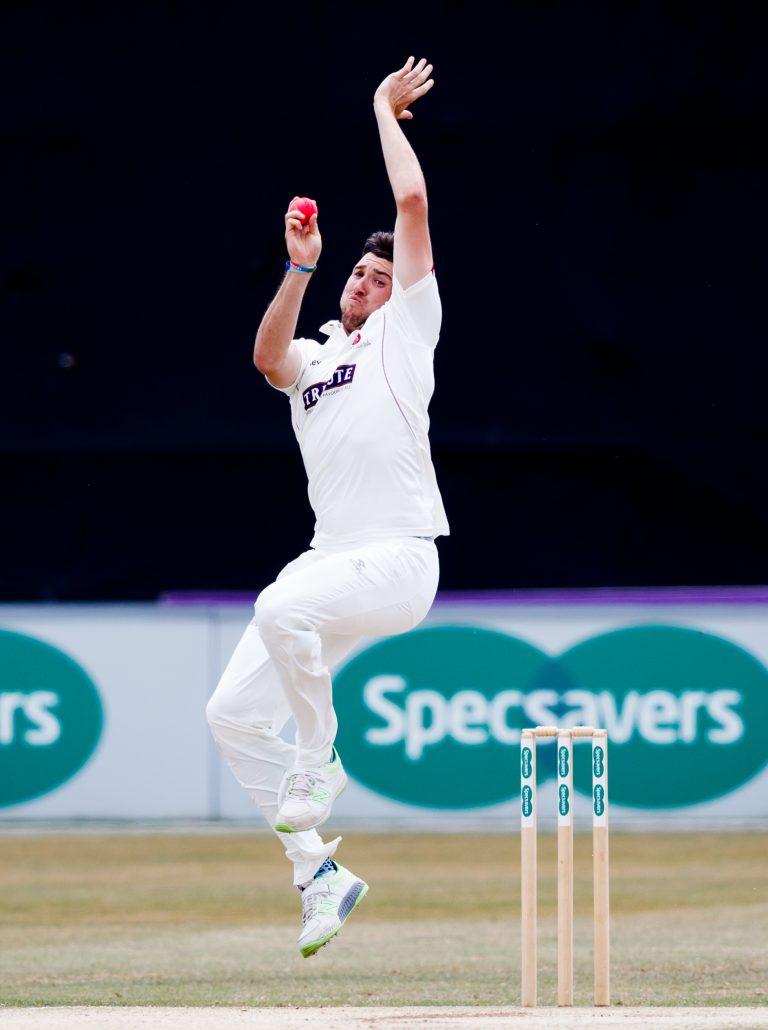 Somerset's Jamie Overton took five wickets against Glamorgan