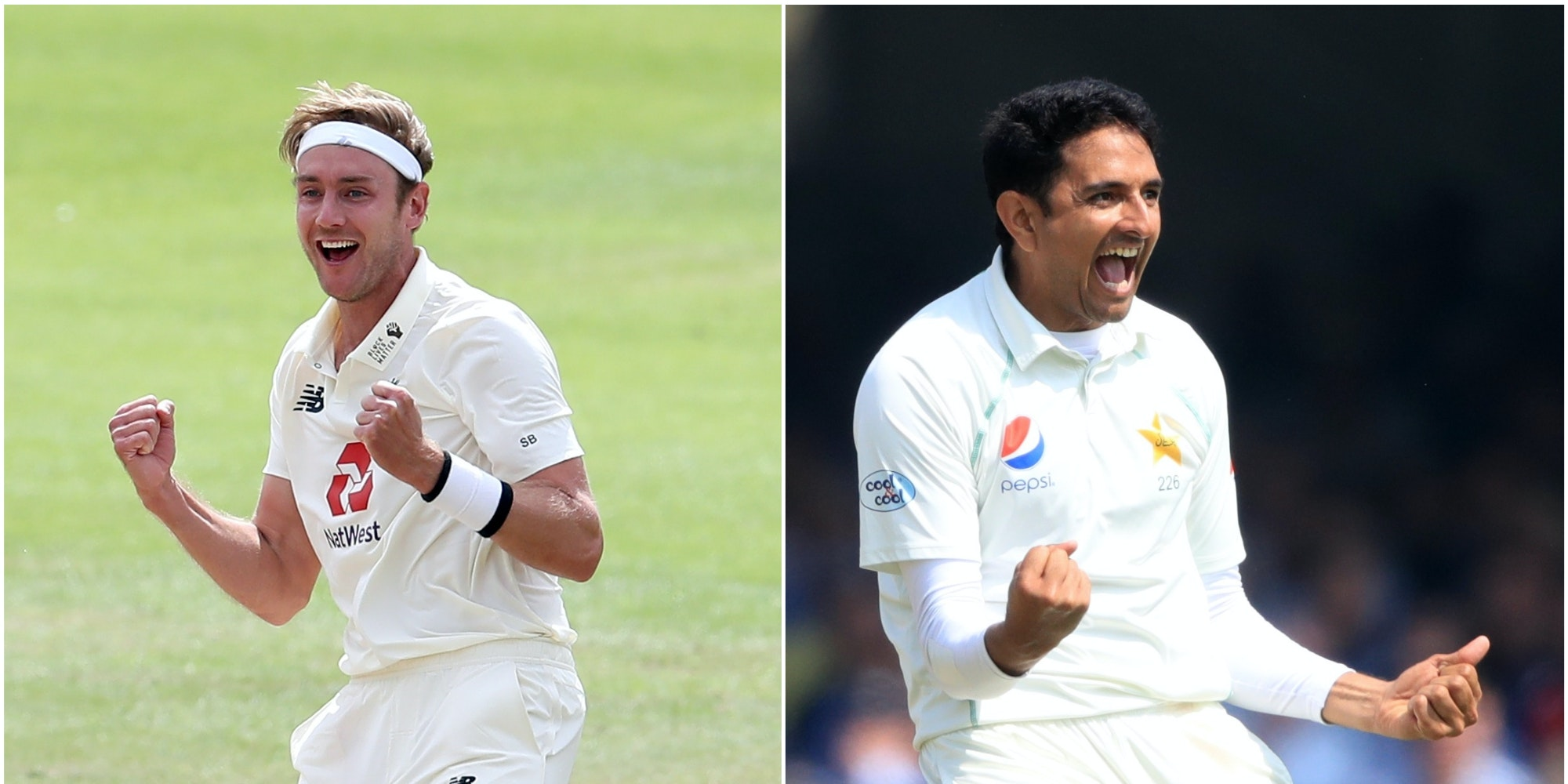 A comparison between Stuart Broad and Mohammad Abbas as England face Pakistan