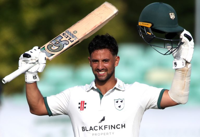 Worcestershire's Brett D'Oliveira produced a knock of 174.