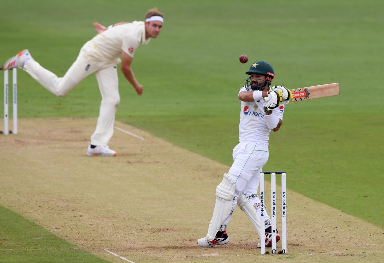 Mohammad Rizwan's fifty frustrated England after a rain delay