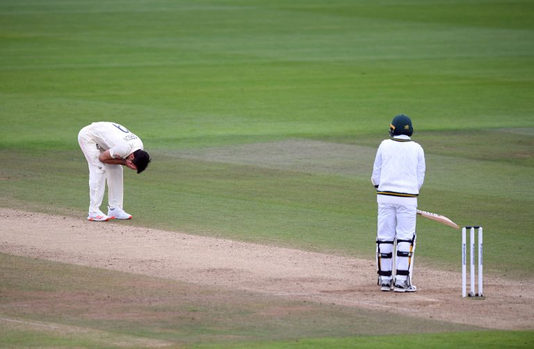 James Anderson cut a frustrated figure after dropped catches