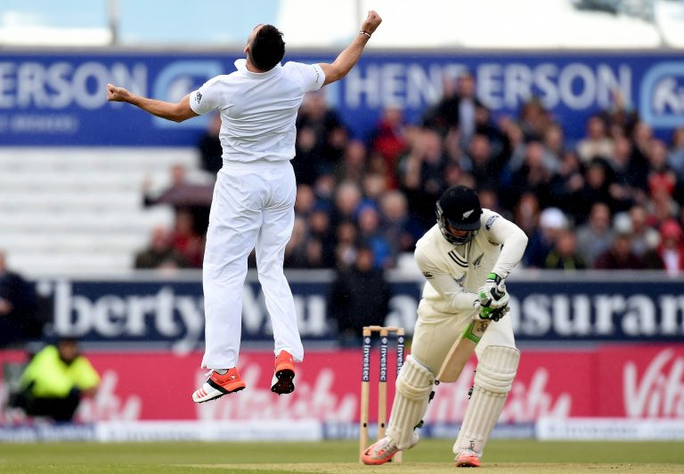 James Anderson took his 400th Test wicket against New Zealand in 2015