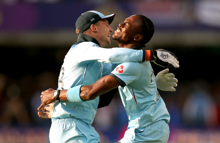 Jofra Archer, right, and Jos Buttler could be named in England's T20 squad to take on Australia (Nick Potts/PA)