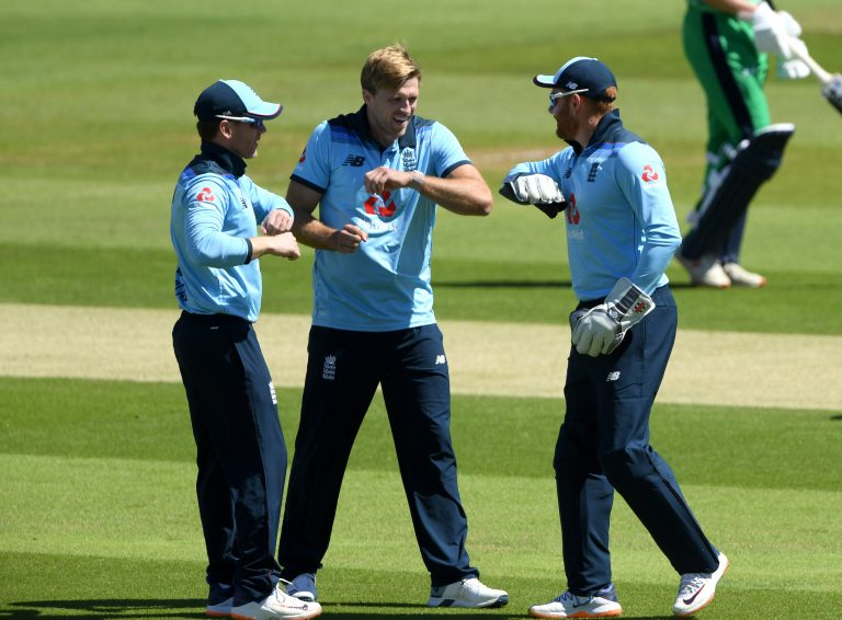 David Willey, centre, is in neither white-ball squad despite shining against Ireland recently (Mike Hewitt/PA)