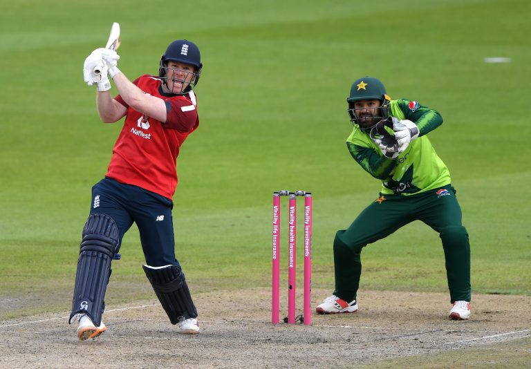 Eoin Morgan, left, said on Sunday he is hitting the ball as well as he has ever done (Mike Hewitt/PA)