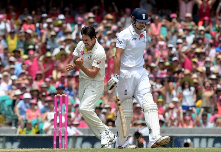Mitchell Johnson, left, terrorised England in the 2013-14 Ashes (Anthony Devlin/PA)