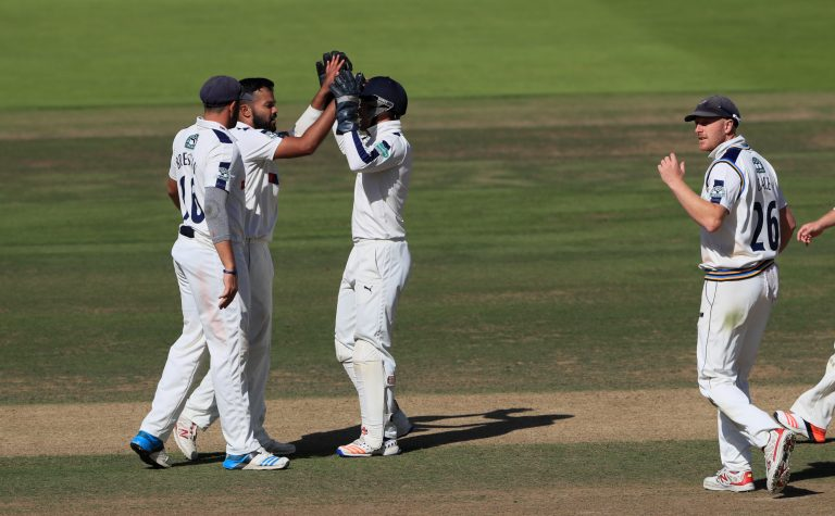 Rafiq (second left) claimed he struggled to fit in with the rest of the Yorkshire dressing room.