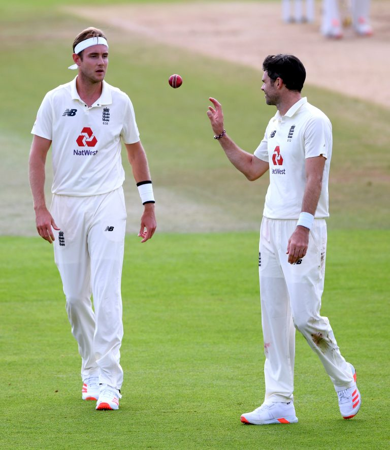Stuart Broad (left) and James Anderson (right) hit new heights this year.