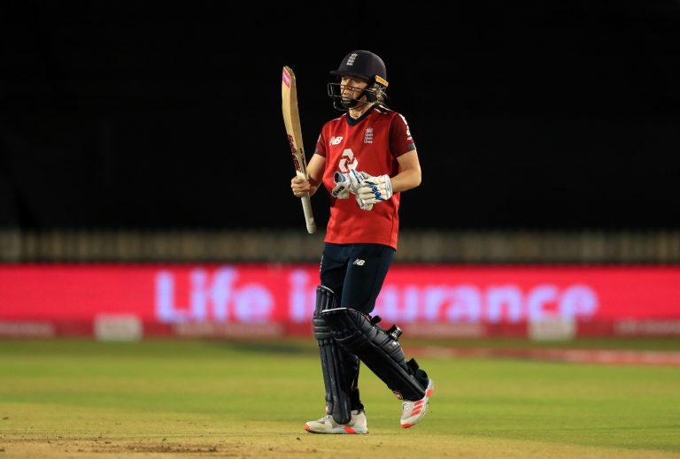 Heather Knight during England's successful chase.