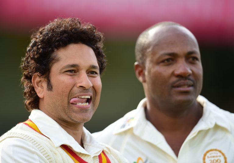 Tendulkar (left) surpassed Brian Lara (right) as cricket's leading Test run-scorer in 2008 (Adam Davy/PA).