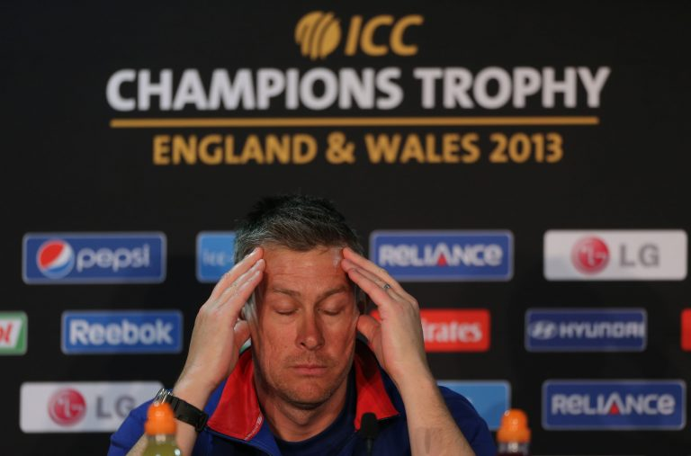 Giles was forced to answer questions about ball tampering in 2013