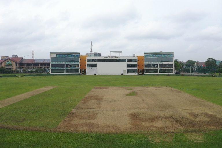 An empty cricket ground