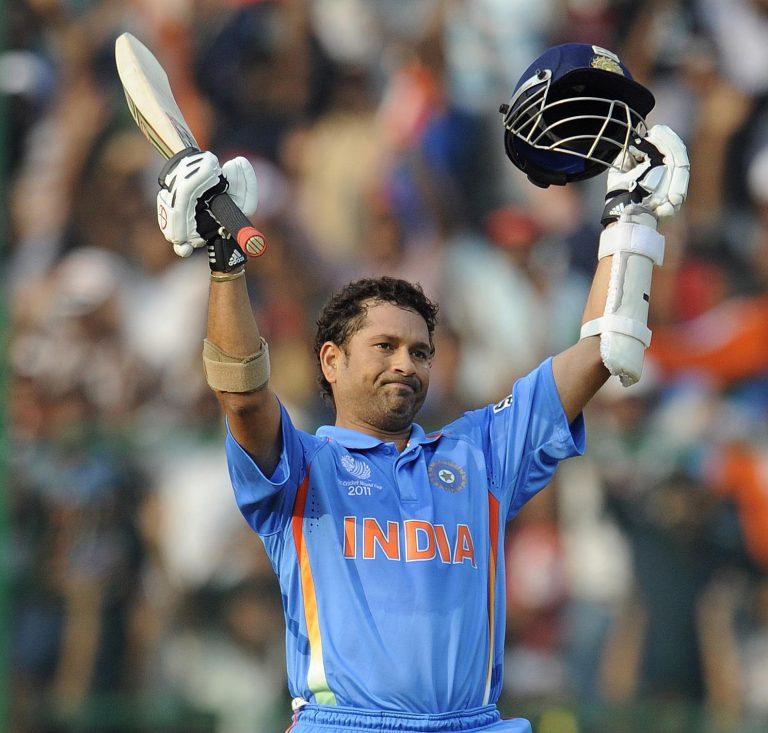 Tendulkar helped India win the 2011 World Cup on home soil (Rebecca Naden/PA).