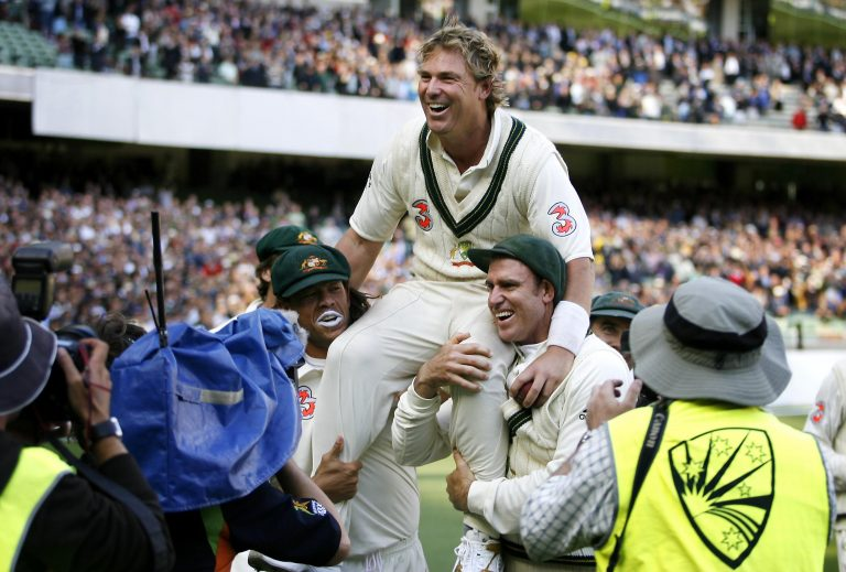 Shane Warne took his 37th and last five-wicket Test haul at the MCG (Gareth Copley/PA)