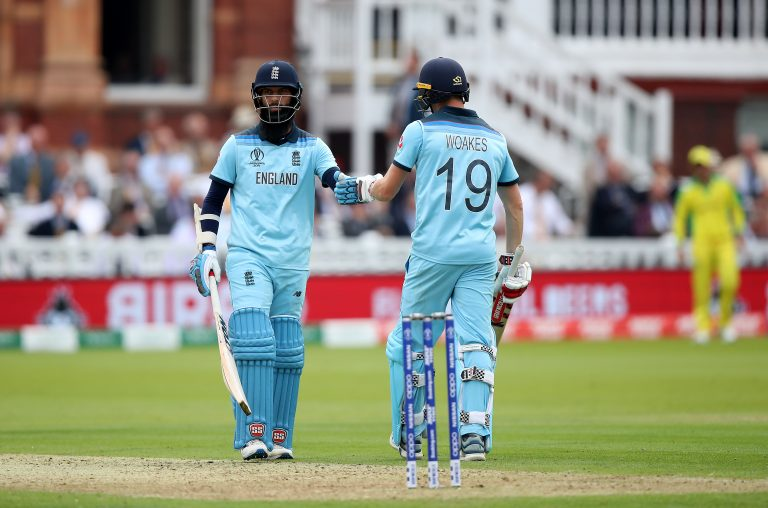 Moeen Ali (left) and Chris Woakes (right) remain in isolation due to the former's Covid-19 diagnosis.