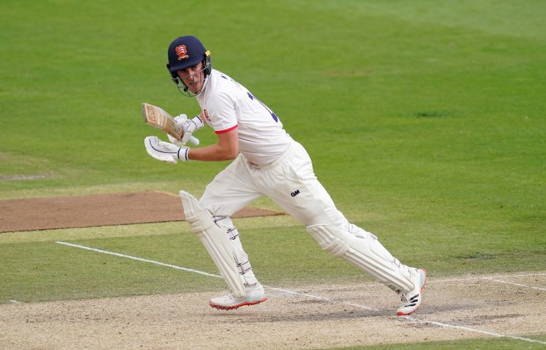 Dan Lawrence made an impression on his first day as a Test batsman.