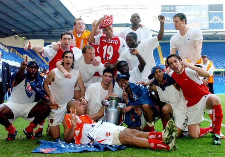 Arsenal's 'Invincibles' were unbeaten when they won the 2003/4 Premier League title