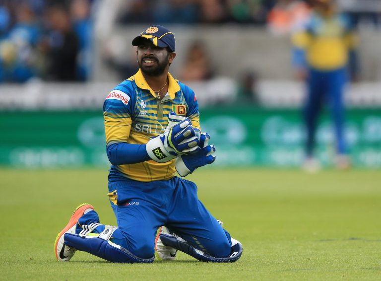 Sri Lankan wicketkeeper Niroshan Dickwella in one-day mode.
