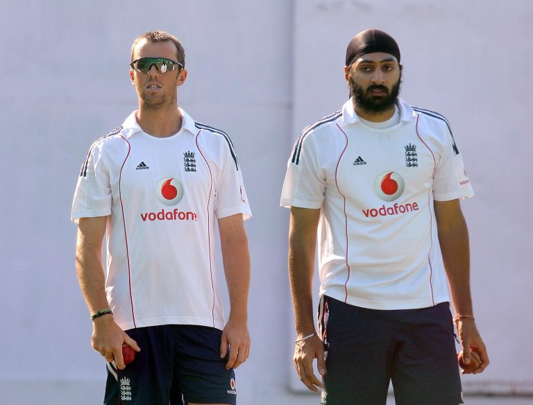 Graeme Swann, left, and Monty Panesar were instrumental in England's win in India in 2012 (Anthony Devlin/PA)