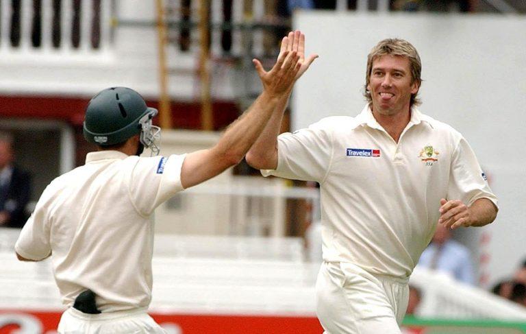 Glenn McGrath took nine wickets in the opening Test